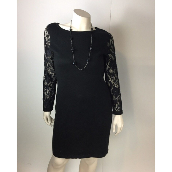 Dresses Black Lace Sweater Dress Knee Stretchy Evening Poshmark
